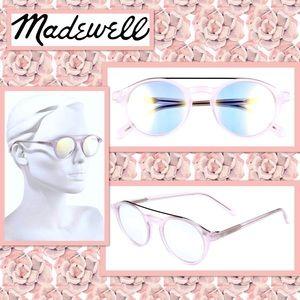 Madewell Omaha Top-Bar Sunglasses in Muted Blush